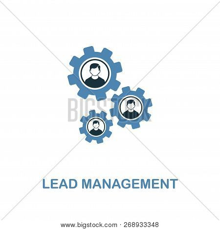 Lead Management Icon. Two Colors Premium Design From Management Icons Collection. Pixel Perfect Simp