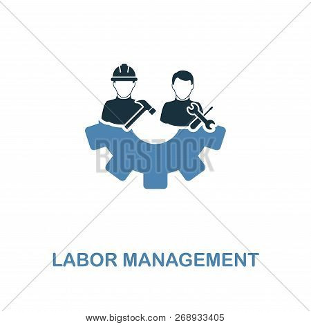 Labor Management Icon. Two Colors Premium Design From Management Icons Collection. Pixel Perfect Sim