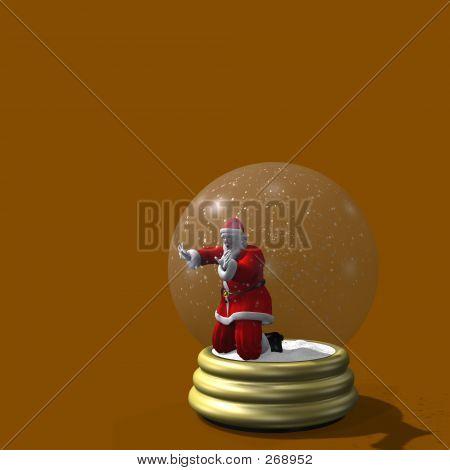 Santa Trapped In Snow Globe