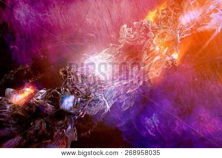 Artistic Abstract Dramatic Artwork On A Multicolored Dramatic Background