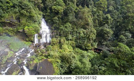 Beautiful Waterfall.tad Khamued Waterfall In Southern Laos.it Is A Place To Visit The Natural Beauty