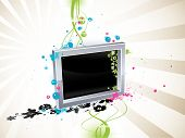 vector richly decorated by varicoloured vegetable ornament frame wallpaper poster