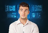 Biometric verification. The concept of a new technology of face recognition. poster