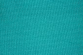 Turquoise texture of binding fabric.Green fabric background.Turquoise fabric. Background with textured surface. poster
