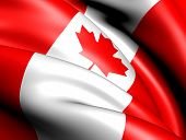 Flag of Canada. Close up. Front view. poster