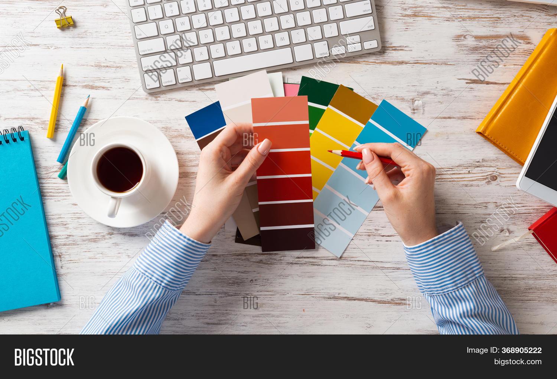 Web Designer Choosing Image Photo Free Trial Bigstock