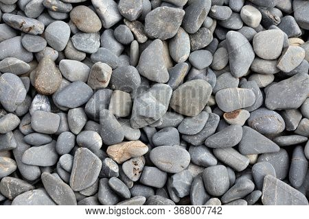 Gray natural stones background texture