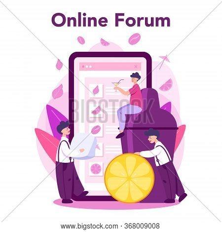 Barkeeper Online Service Or Platform. Online Forum.