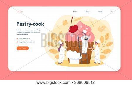Confectioner Web Banner Or Landing Page. Professional