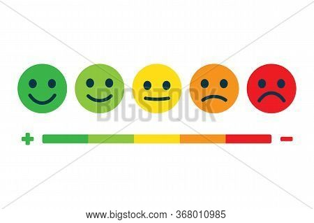 Rating Feedback Scale. Customer Satisfaction Feedback Or Rating. Emotion Rating Feedback Opinion Pos