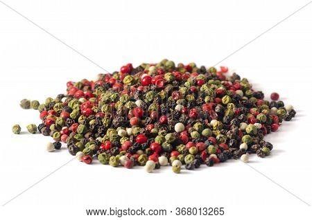 Mixture Of Peppers Hot Pepper, Red Pepper, Black Pepper, White P