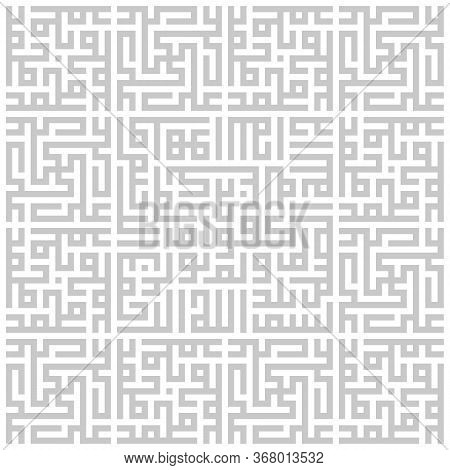 Arabic Sacred Calligraphy, Geometric Kufi. Vector Set Of Square Lettering, Translated As: Muhammad,