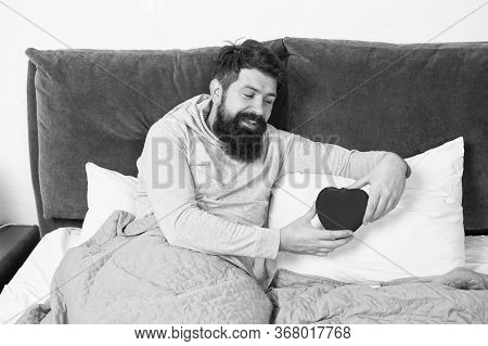 Lack Of Love. Romantic Ideas. Vacant Place. Man Relaxing In Bed Alone. Looking For Partner. Take Car