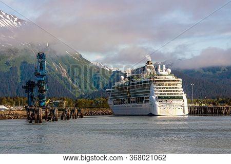 Seward, Alaska - June 7 - The Radiance Of The Seas, A Royal Caribbean Cruise Ship As Seen On June 7