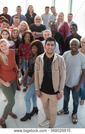 Group of multiethnic business people standing