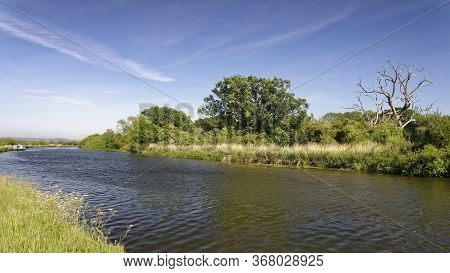 The Gloucester And Sharpness Canal Near Purton, Gloucestershire, Uk