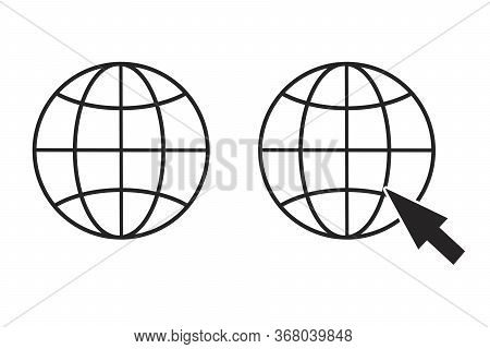 Web Site Icon. Online Site Vector Icon. Image Of Internet Access. Stock Template.
