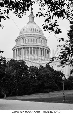 U.S. Capitol Building in black and white - Washington D.C. United States of America