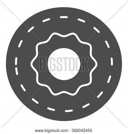 Donut Solid Icon, Confectionary Concept, Sweet Tasty Fried Bakery Sign On White Background, Doughnut
