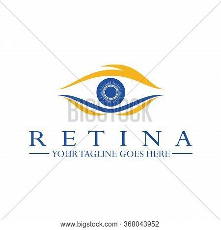 Design, Vector, Eye Shape Drawing With The Concept Of The Retina