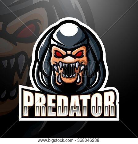 Vector Illustration Of Predator Mascot Esport Logo Design
