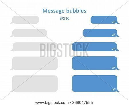 Message Bubbles. Design Template For Messenger Chat Or Website. Modern Vector Illustration In Flat S