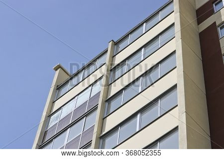 New Prefabricated House Has Not Yet Been Put Into Operation. Modern Construction Of Apartment Buildi