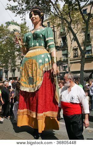 Giants at La Mercè