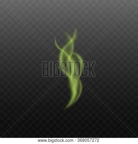 Toxic Or Magical Steam Or Smoke 3d Vector Illustration Isolated On Transparent .