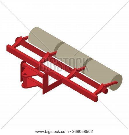 Farm Machinery Roller Icon. Isometric Of Farm Machinery Roller Vector Icon For Web Design Isolated O