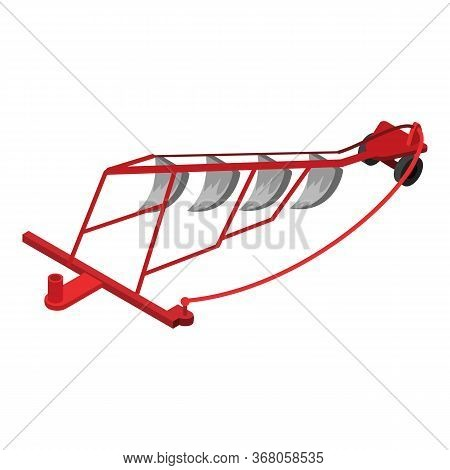 Tractor Plow Icon. Isometric Of Tractor Plow Vector Icon For Web Design Isolated On White Background