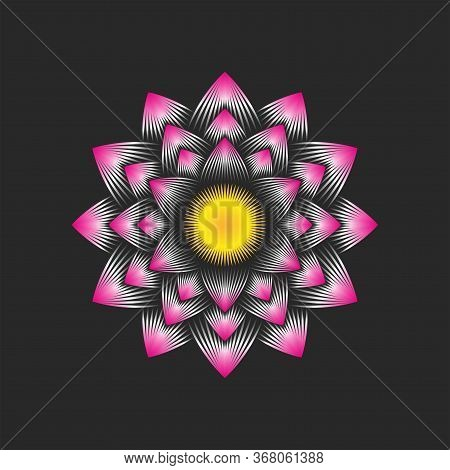 Logo Lotus Flower Is An Buddhism Symbol Of Purity, Enlightenment, Self-regeneration And Rebirth, Cal