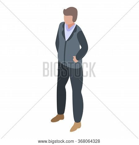 Man Ready To Quest Icon. Isometric Of Man Ready To Quest Vector Icon For Web Design Isolated On Whit