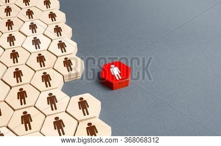A Person Outside Of The General Structure Of A People Company. Exit The Project, Dismissal From Work
