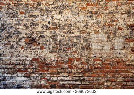 Texture Of Old Ancient Brick Wall, Red Brown Background, Old Brick Wall. Grunge Background. Bric. Ru