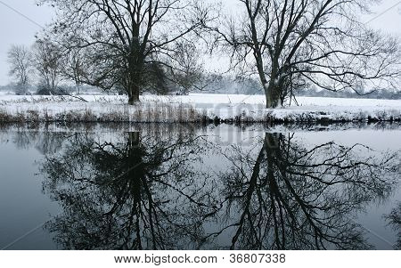Winterscape River Great Ouse UK