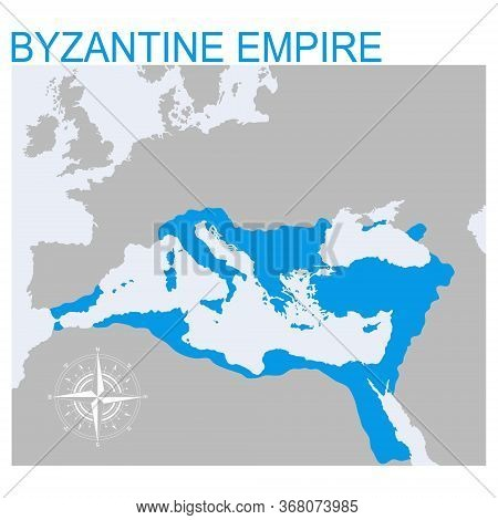 Vector Map Of The Byzantine Empire For Your Design