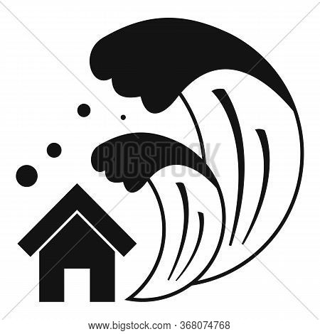 Tsunami Icon. Simple Illustration Of Tsunami Vector Icon For Web Design Isolated On White Background