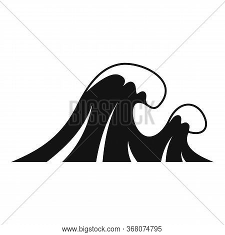 Natural Tsunami Icon. Simple Illustration Of Natural Tsunami Vector Icon For Web Design Isolated On