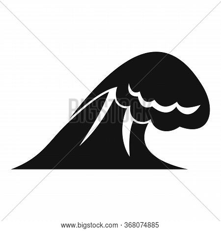 Thunderstorm Tsunami Icon. Simple Illustration Of Thunderstorm Tsunami Vector Icon For Web Design Is