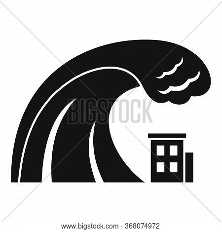 Safety Tsunami Wave Icon. Simple Illustration Of Safety Tsunami Wave Vector Icon For Web Design Isol