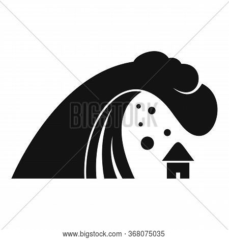 Tsunami Wave Icon. Simple Illustration Of Tsunami Wave Vector Icon For Web Design Isolated On White