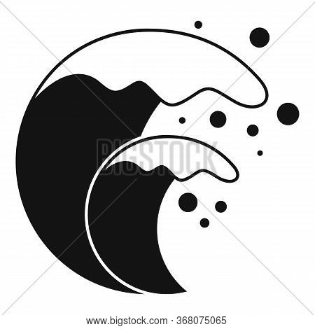Earth Tsunami Icon. Simple Illustration Of Earth Tsunami Vector Icon For Web Design Isolated On Whit