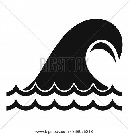 Nature Tsunami Icon. Simple Illustration Of Nature Tsunami Vector Icon For Web Design Isolated On Wh