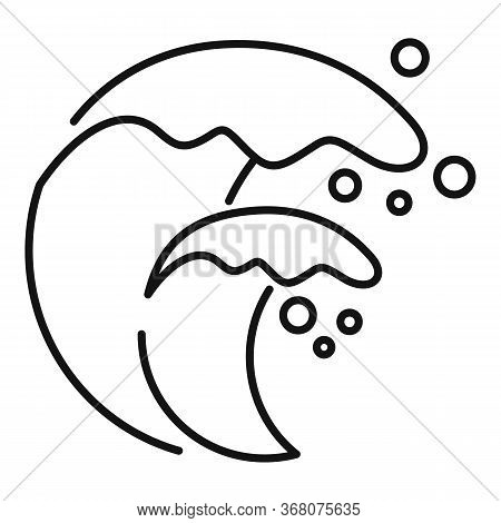 Building Tsunami Icon. Outline Building Tsunami Vector Icon For Web Design Isolated On White Backgro