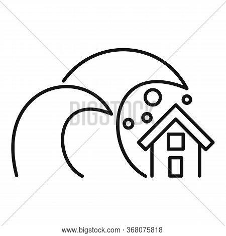Nature Tsunami Icon. Outline Nature Tsunami Vector Icon For Web Design Isolated On White Background