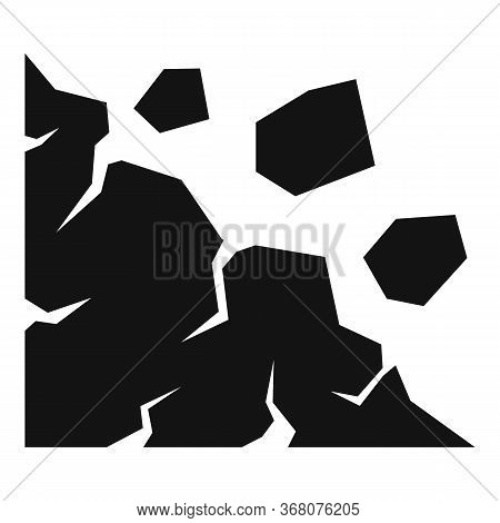 Cliff Landslide Icon. Simple Illustration Of Cliff Landslide Vector Icon For Web Design Isolated On