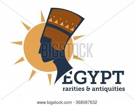 Egypt Rarities And Antiquity, Niferititi Bust And Sun