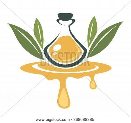 Olive Oil, Oily Liquid Organic Product Banner Vector