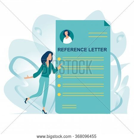 Reference Letter. Recommendation Letter. Employment Reference. Job Application. Job Search Concept.